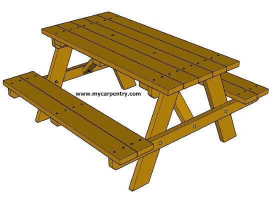 7. DIY Picnic Table Plans