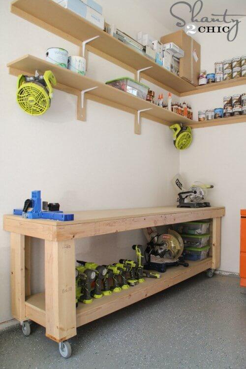 7. DIY Workbench Plans