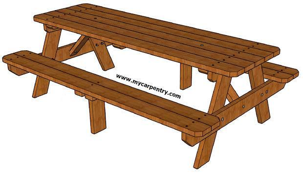 8. DIY 8 Foot Picnic Table