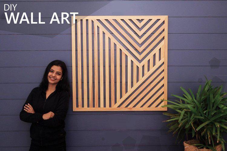 8. DIY Geometric Wood Wall Art