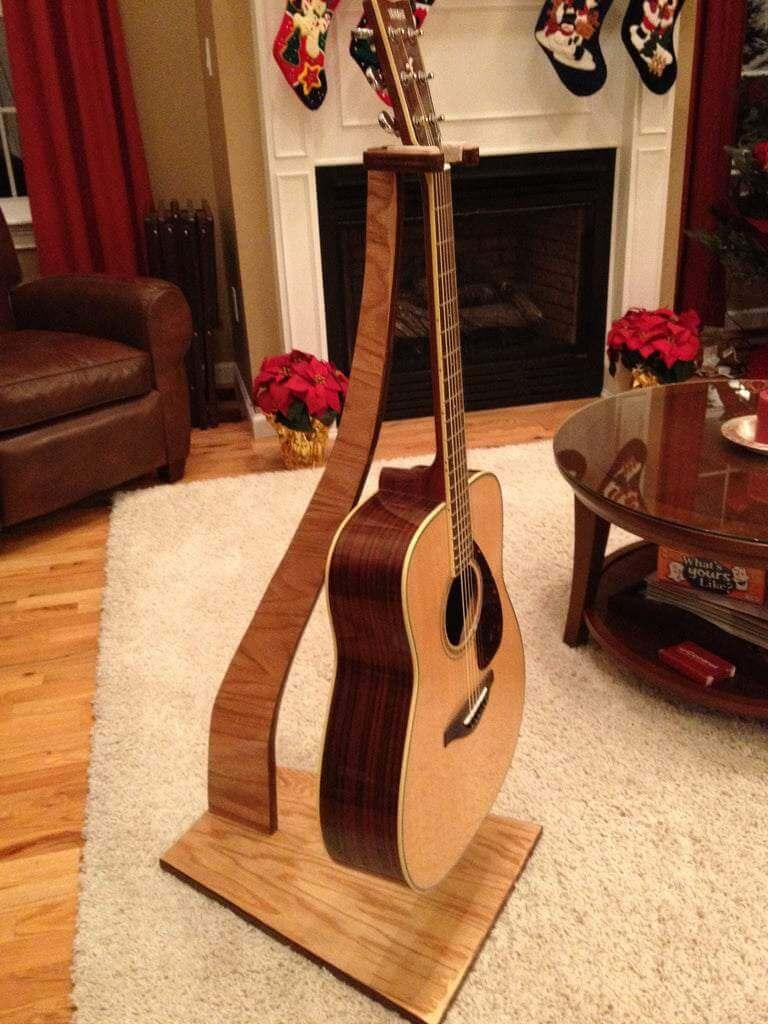 8. DIY Hanging Guitar Stand