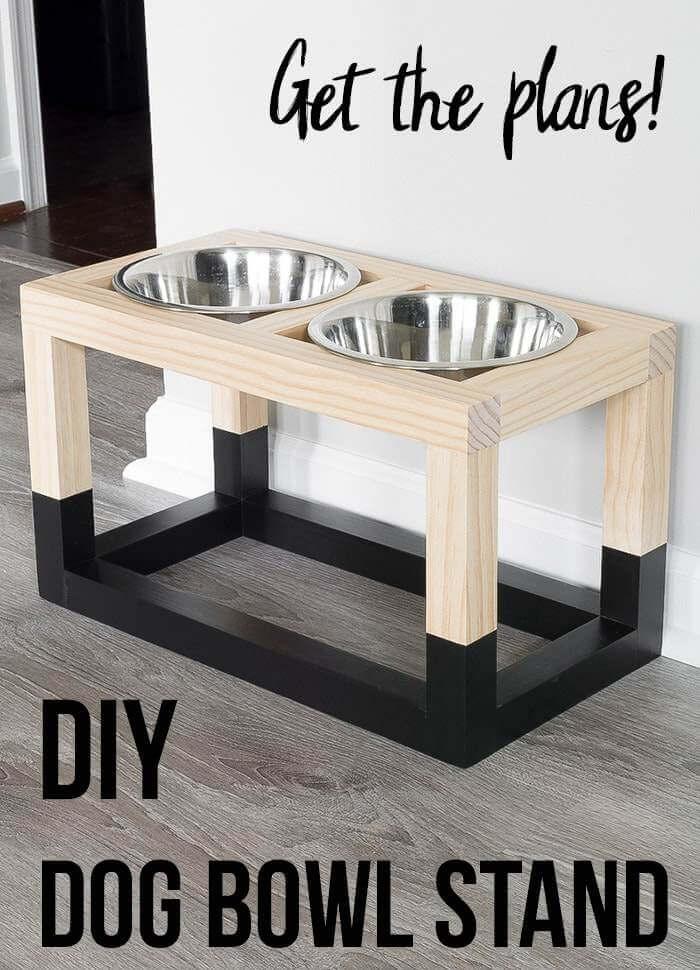 8. DIY Simple Dog Bowl Stand