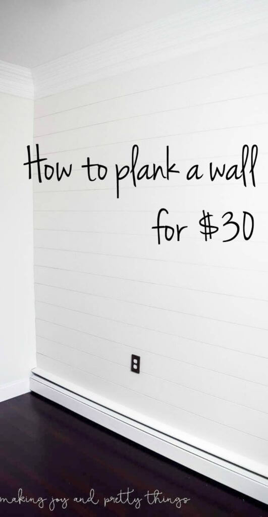8. How To Plank A Wall For $30