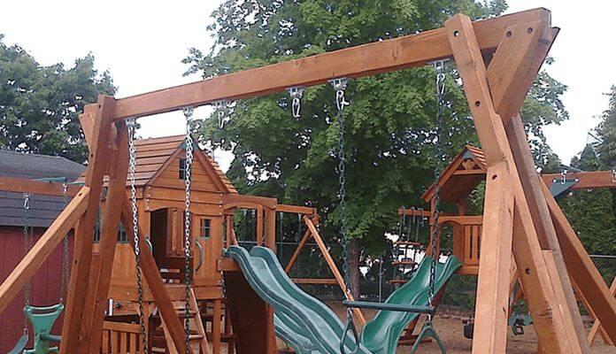 9. DIY Free Standing Swing Set Plan