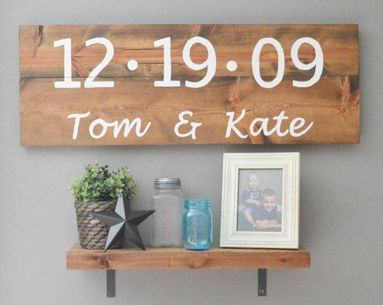 9. How To Make A DIY Rustic Wood Sign