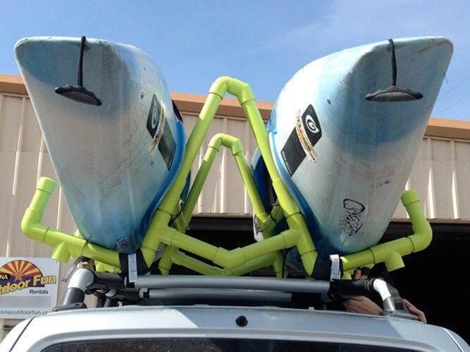 9. PVC Kayak Roof Rack