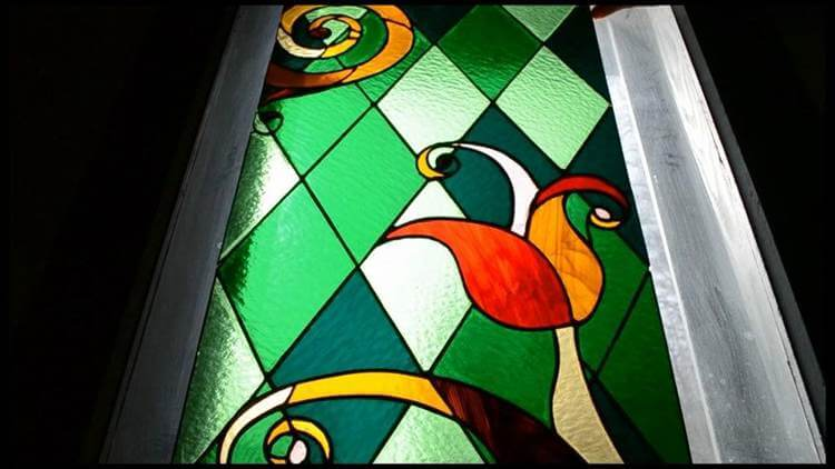 9. Stained Glass Window DIY