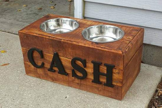 DIY Dog Bowl Stand