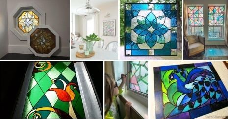 DIY Stained Glass Window Ideas
