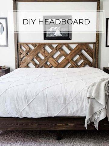 DIY Wood Headboard Plans
