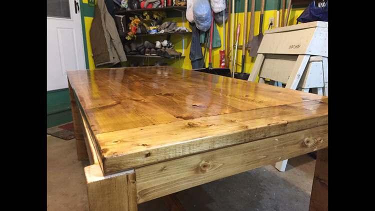 1. DIY Farmhouse Table