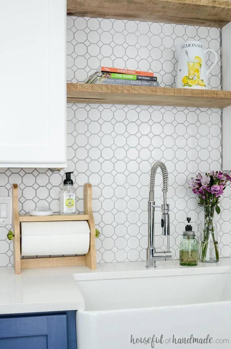 1. Farmhouse Paper Towel Holder DIY
