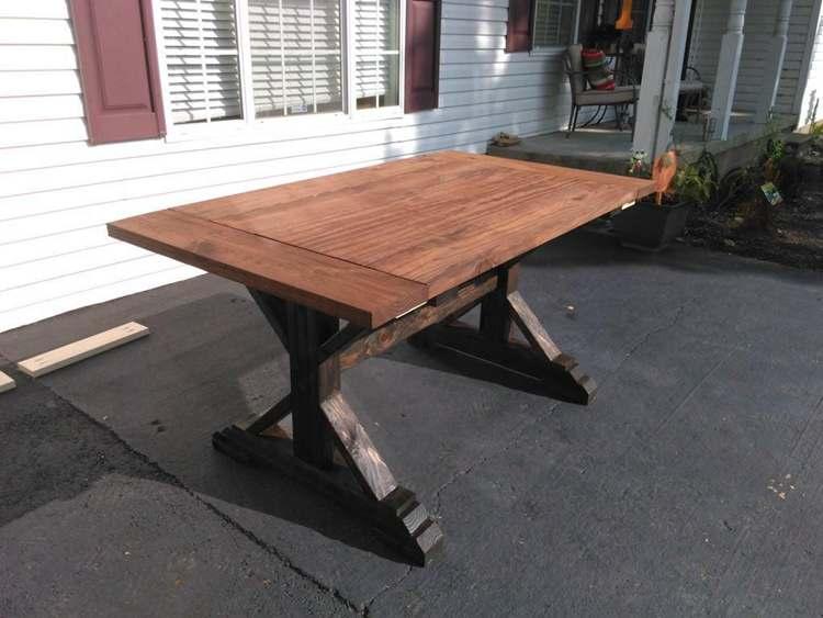 10. DIY Rustic Farmhouse Table