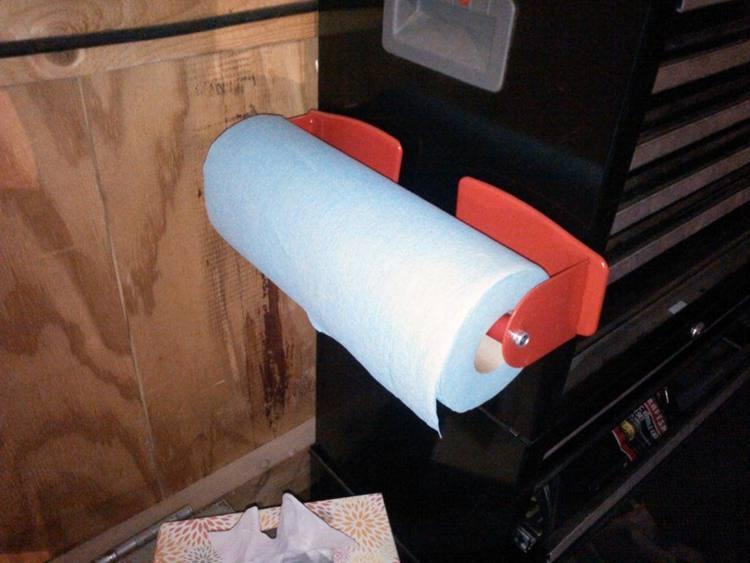 11. DIY Magnetic Paper Towel Holder