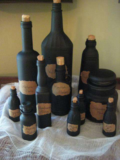11. DIY Witches Potion Bottles