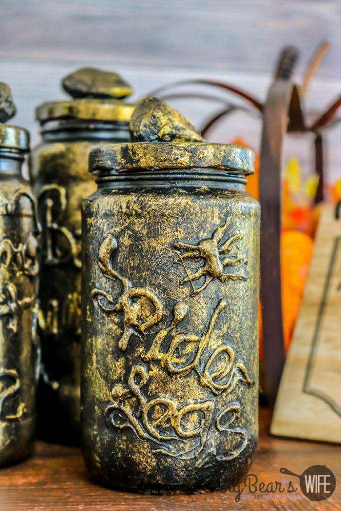 12. DIY Potion Bottles From Old Jars