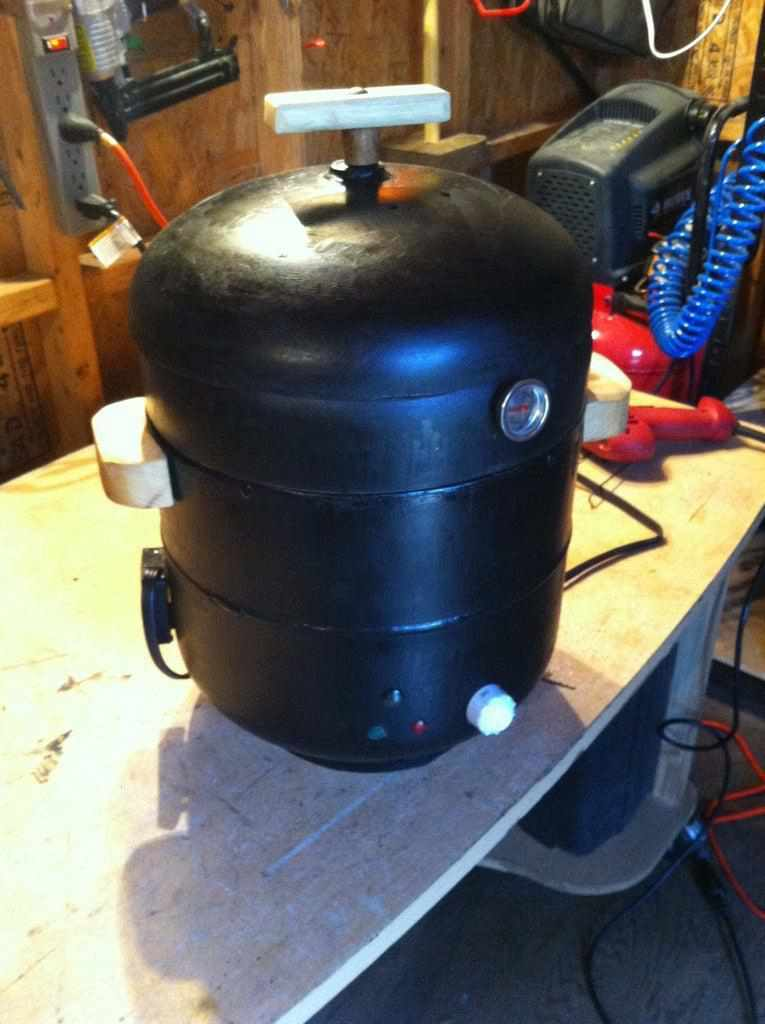 12. DIY Smoker From Propane Tanks