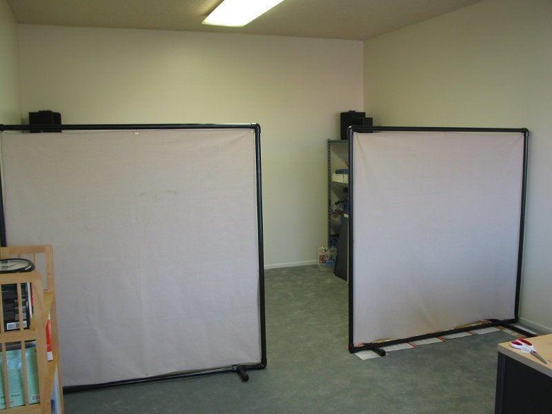 13. Cheap Office Divider DIY