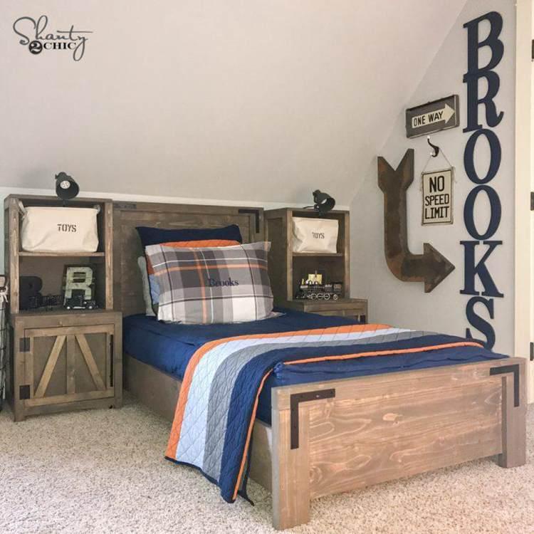 13. DIY Farmhouse Platform Bed