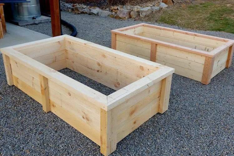 13. DIY Garden Boxes