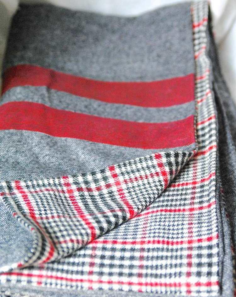 13. DIY Throw Blanket Tutorial