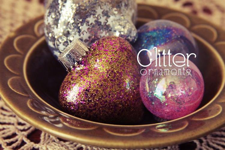 13. Glitter Ornament DIY