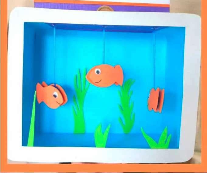 14. DIY Cardboard Fish Tank