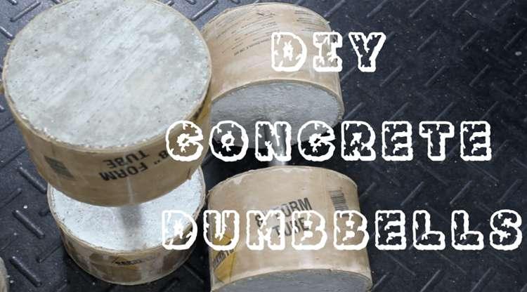 14. DIY Concrete Dumbbells