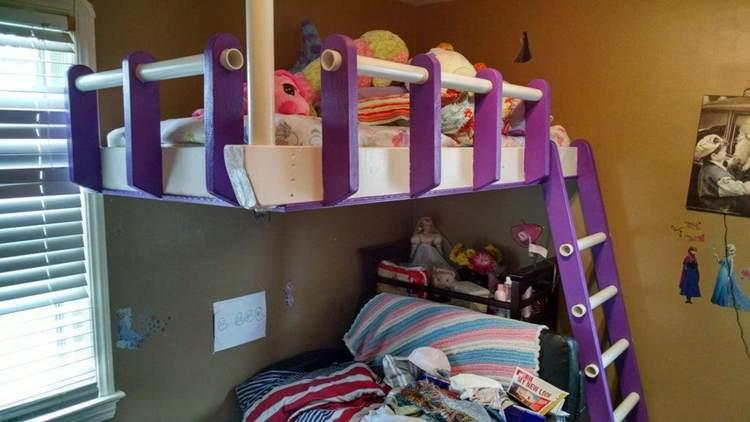 14. DIY Floating Loft Bed