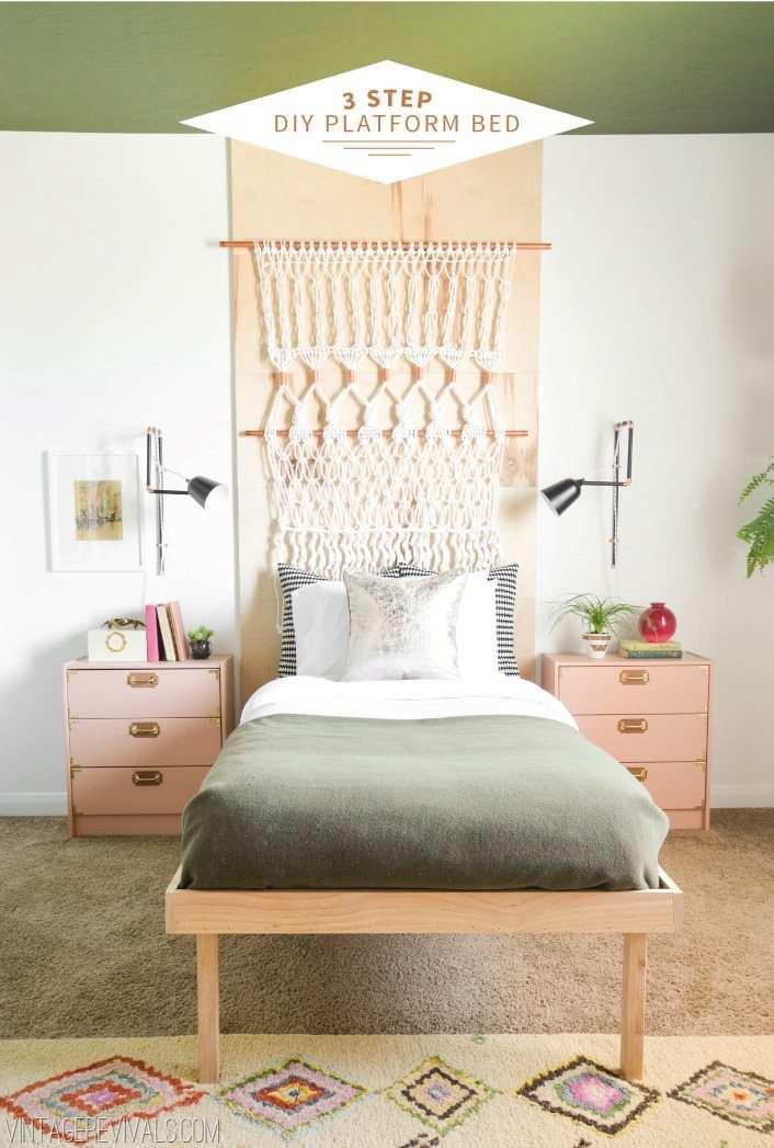 14. DIY Platform Bed Plan