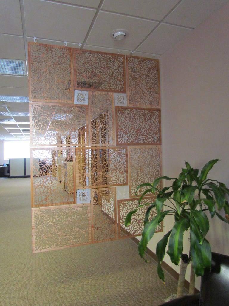 14. DIY Room Divider Screen With Laser