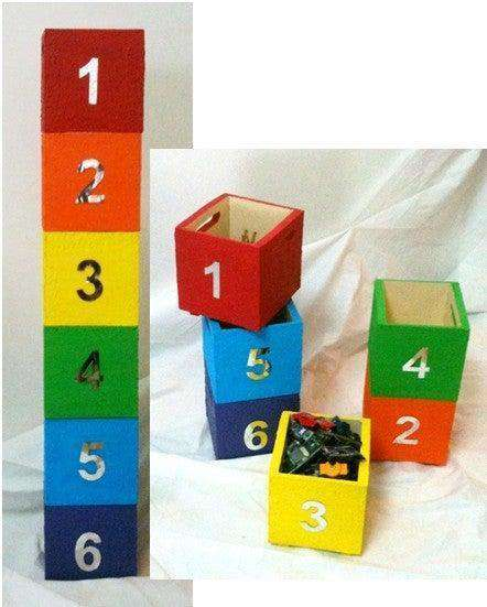 14. DIY Stackable Toy Boxes