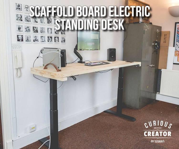 14. Scaffold Board Electric Standing Desk