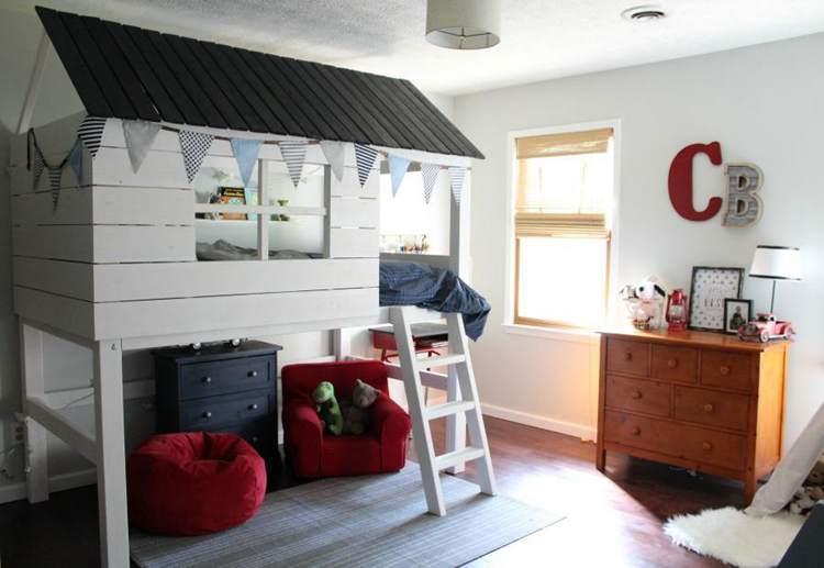 15. DIY Kids Clubhouse & Loft Bed Plans