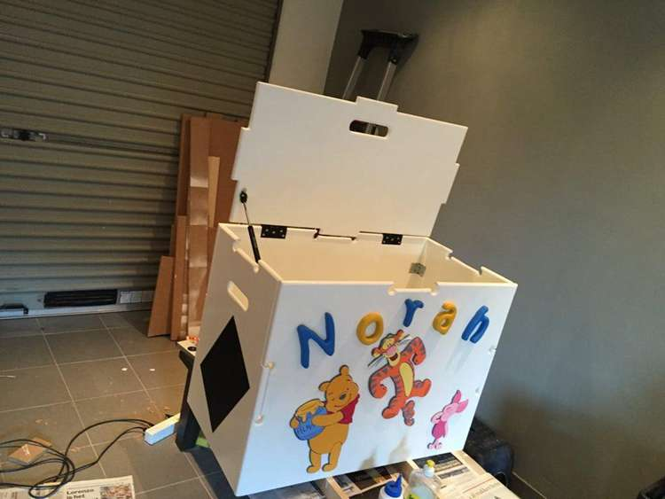 15. DIY Toy Storage Box