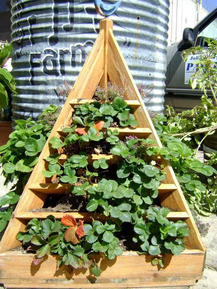 15. How To Build A Strawberry Planter