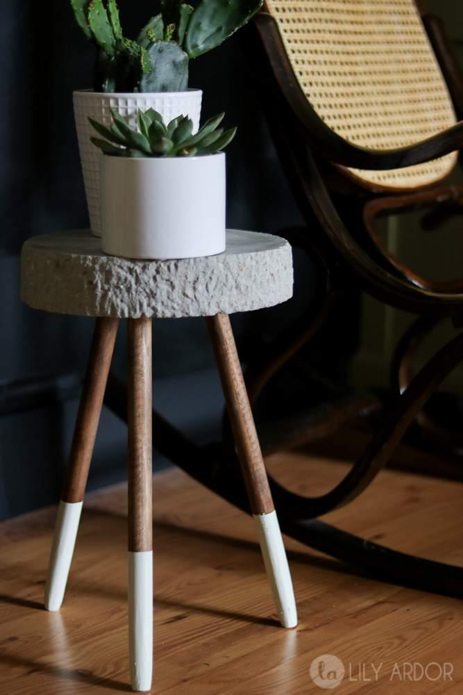 15. Raw Edge Concrete Plant Stand