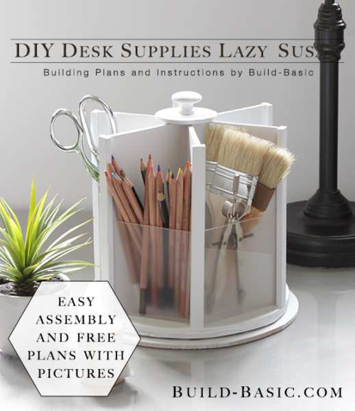16. DIY Desk Supplies Lazy Susan