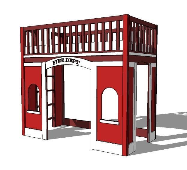 16. DIY Fire Station Loft Bed