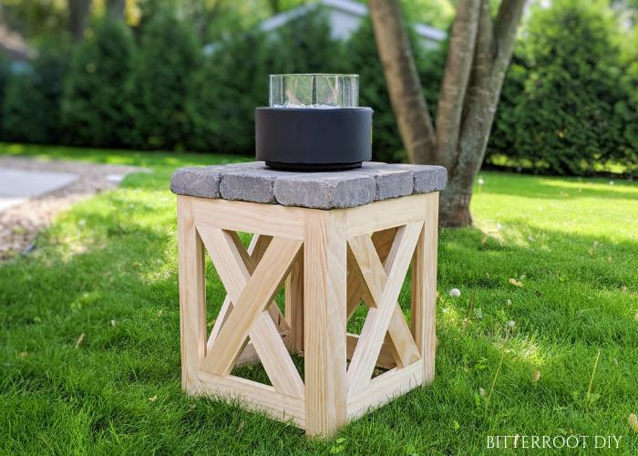 16. DIY Gas Fire Pit Table