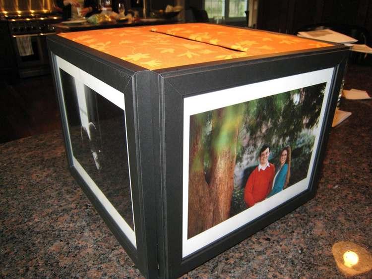 16. DIY Photo Frame Card Box