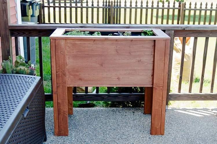 16. DIY Raised Garden Planter Box