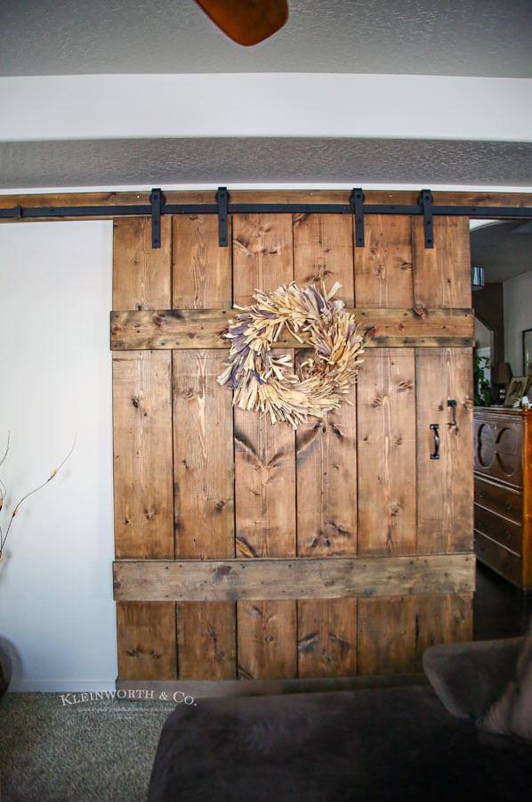 16. DIY Wide Rustic Barn Door