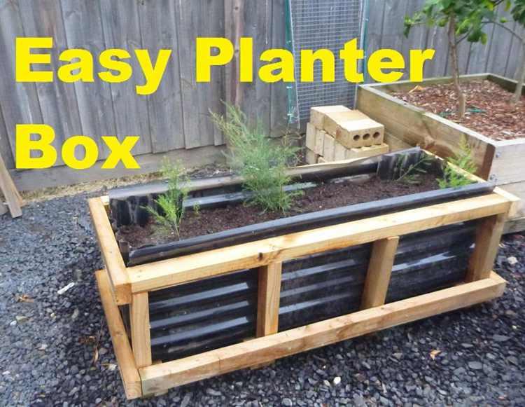 16. Easy Planter Box DIY