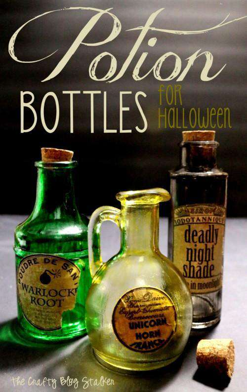 17. How To Make Potion Bottles For Halloween