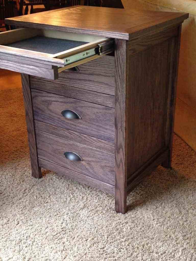 18. DIY Nightstand With Secret Drawer