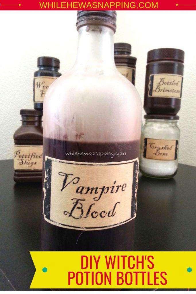 18. DIY Witch Potion Bottle