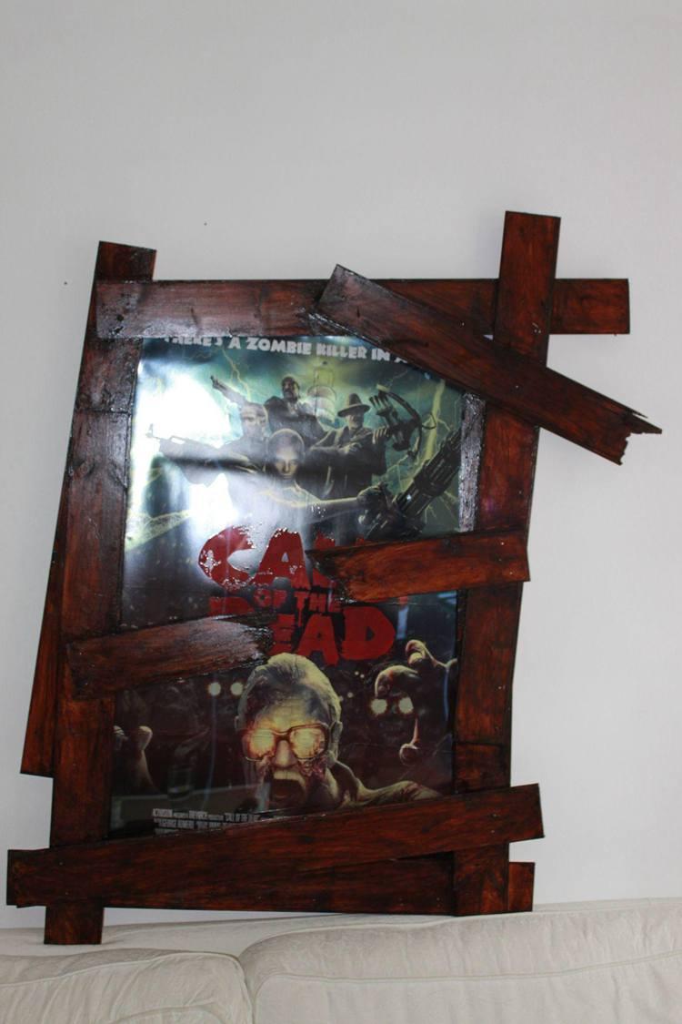 19. DIY Zombie Movie Poster Frame
