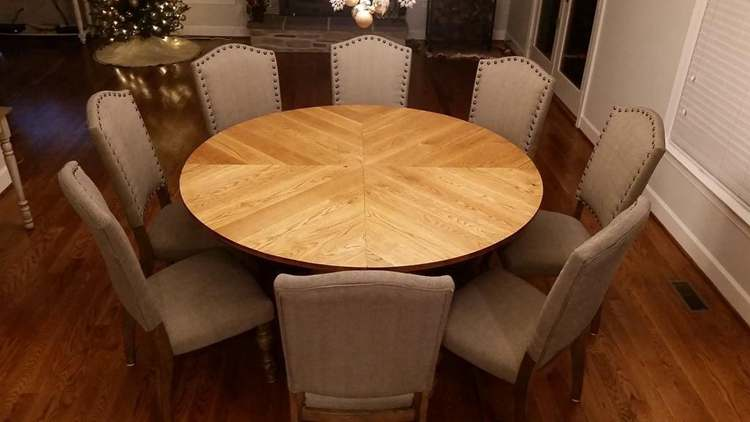 19. Traditional Round Farmhouse Table