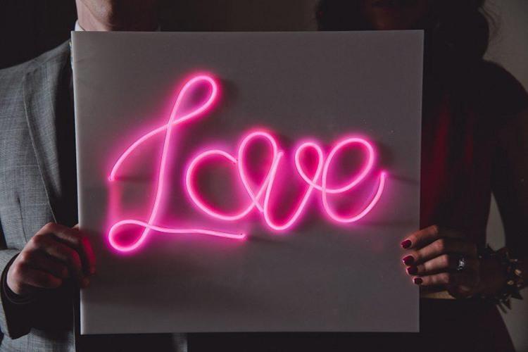 2. DIY Neon Sign With EL Wire